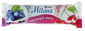 """Мыло туалетное """"Milana мыльный микс"""" черника в йогурте & спелая черешня Grass"""