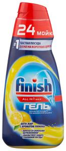 Гель для мытья посуды в посудомоечной машине Лимон All in1 MAX 600мл Finish