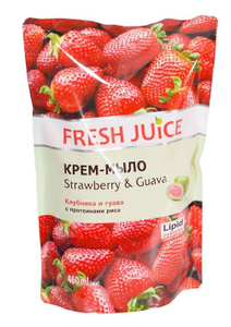 Крем-мыло Strawberry&Guava Дой-ПАК 460мл Fresh Juice
