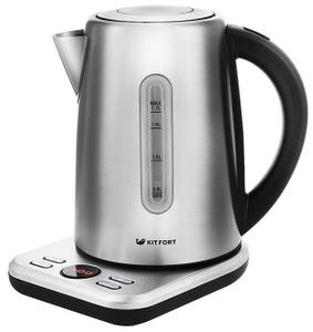 Чайник электрический Kitfort КТ-661 серебристый
