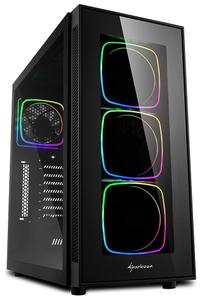 Корпус Sharkoon TG6 RGB без БП черный