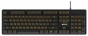 Клавиатура проводная HIPER GK-4 CRUSIDER черный