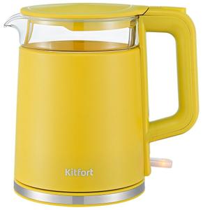 Чайник электрический Kitfort KT-6124-5 желтый