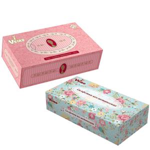 """Салфетки косметические Veiro """"Универсальные"""", 2-х слойн, в картонном боксе, белые, 100шт."""