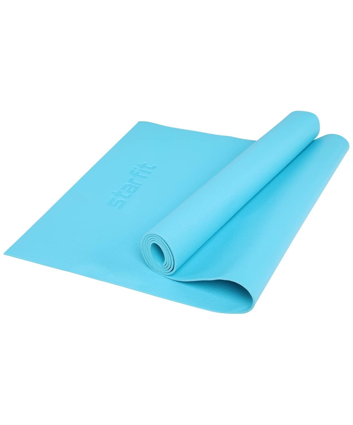 Коврик для йоги STARFIT FM-103 PVC HD 173x61x0,4 см, голубой