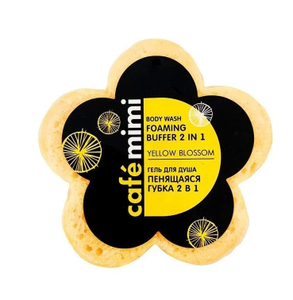 Пенящаяся губка 2в1 Yellow Blossom 60гр Café Mimi