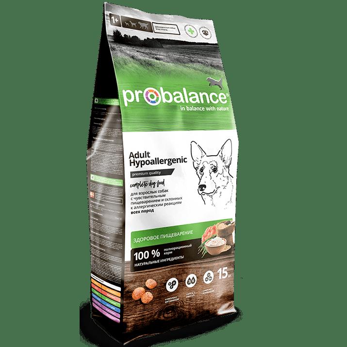 """Сухой корм для собак ProBalance """"Hypoallergenic"""" для собак с чувствительным пищеварением и склонных к аллергическим реакциям 15 кг."""