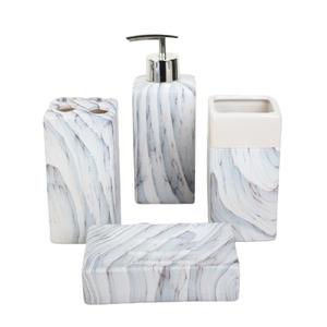 Набор аксессуаров для ванной комнаты «Мрамор», 4 предмета