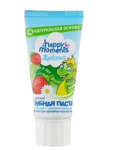 Зубная паста Happy Moments Дракоша со вкусом клубники 60 мл