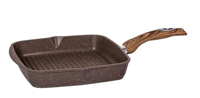 Сковорода-гриль квадр. Мечта 26*26 см АП Гранит brown арт. 66806