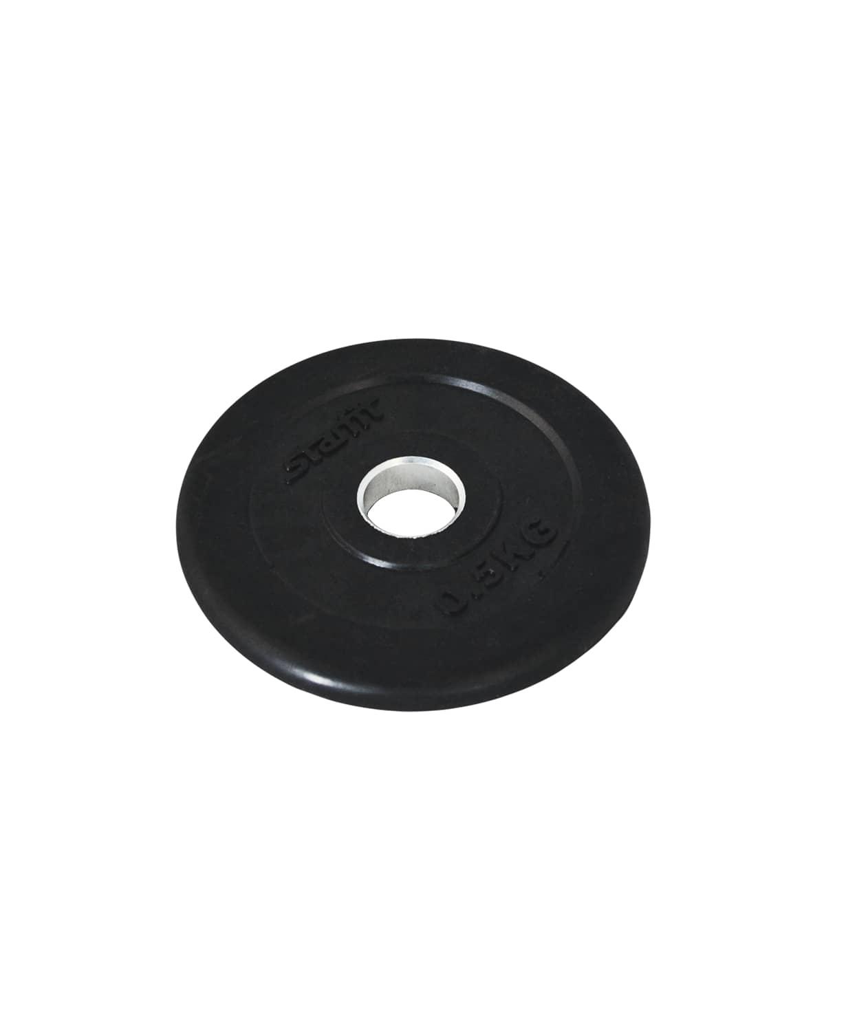 Диск обрезиненный BB-202, d=26 мм, черный, 0,5 кг