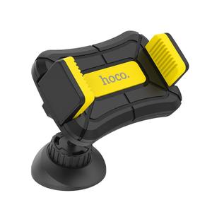 Держатель Hoco CA43 Travel spirit push-type dashboard in-car holder black&yellow