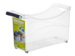 Контейнер для хранения хозяйственный на колёсах, 10 л, прозрачный Полимербыт