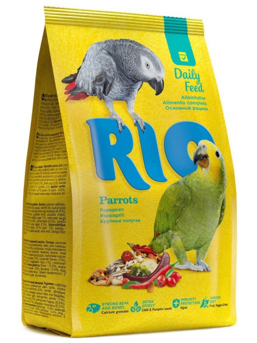 "RIO / Корм для крупных попугаев ""основной рацион"" 500 гр."