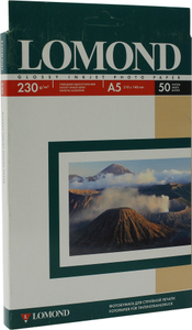 LOMOND 0102070 (A5, 15x21см, 50 листов, 230 г / м2) бумага глянцевая односторонняя