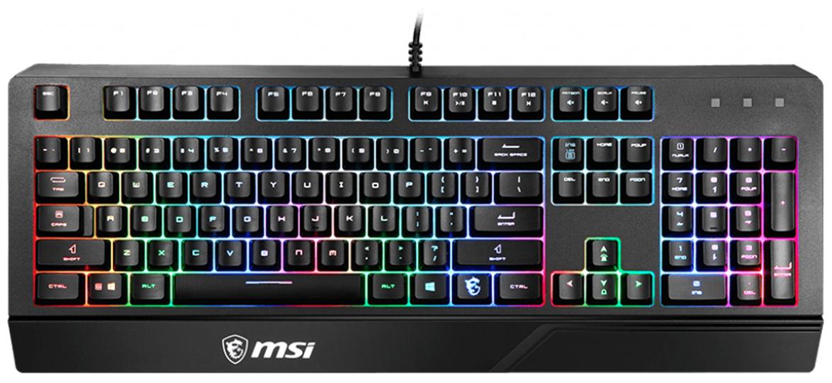 Клавиатура проводная MSI BLACK RUS VIGOR GK20 черный