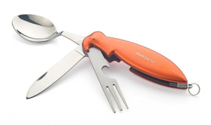 Нож перочинный AceCamp 2573 110мм 3функц. оранжевый блистер