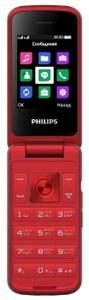Сотовый телефон Philips Xenium E255 красный