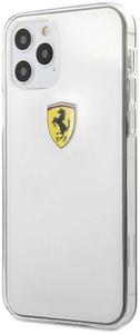 Чехол накладка Ferrari для Apple iPhone 12/12 Pro белый