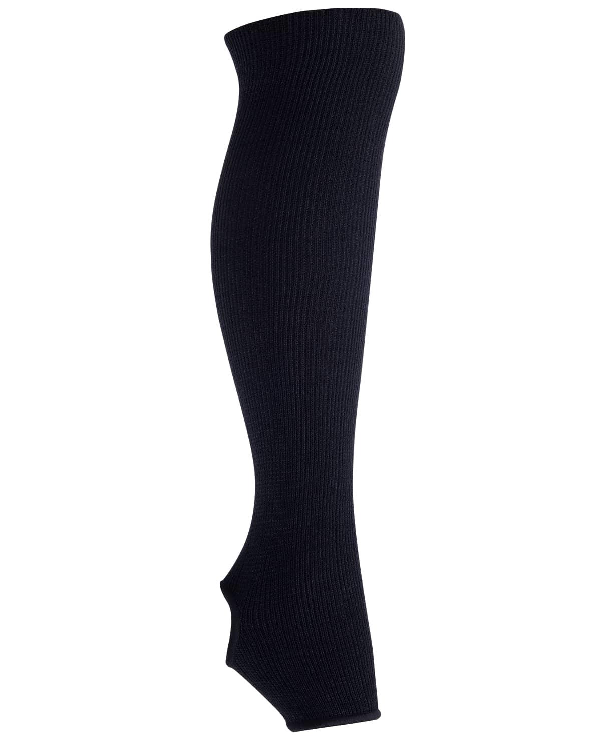 Гетры гимнастические разогревочные Stella Black, шерсть, 40 см