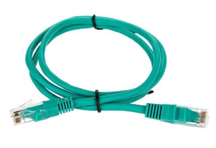 """Патчкорд литой """"Telecom"""" UTP кат.5е 1,0м зеленый <NA102-G-1M>"""