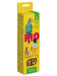 """RIO / Лакомство для волнистых попугаев и экзотических птиц """"Палочки"""" с тропическими фруктами 80 гр."""