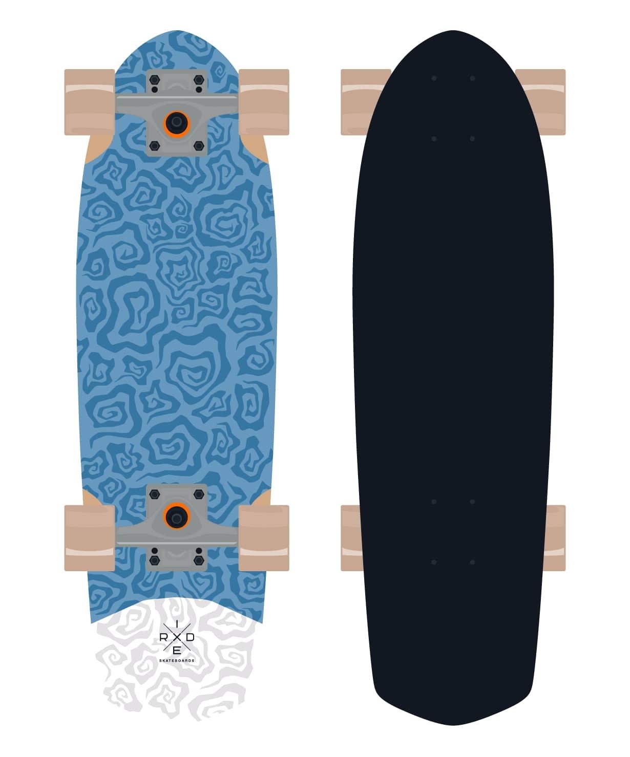 Круизер деревянный Blueberry 28.5''X8.25''