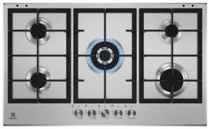 Газовая варочная панель Electrolux GPZ393SX серебристый