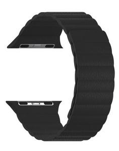 Кожаный ремешок для Apple Watch 42/44 mm LYAMBDA POLLUX DSP-24-44-BK Black