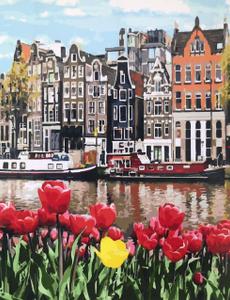 """Картина по номерам на холсте 40x50 см """"Городские цветы"""""""