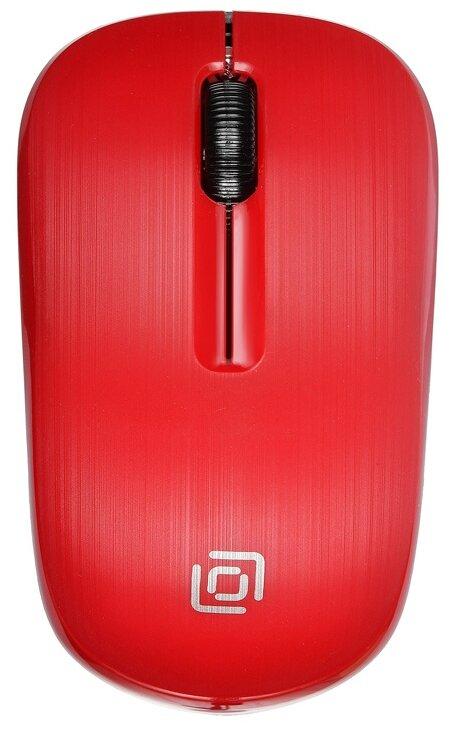 Мышь беспроводная Oklick 525MW красный