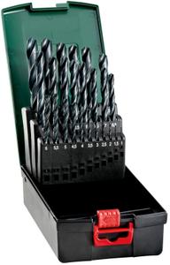 Набор сверл Metabo HSS-R по металлу (25пред.) для дрелей