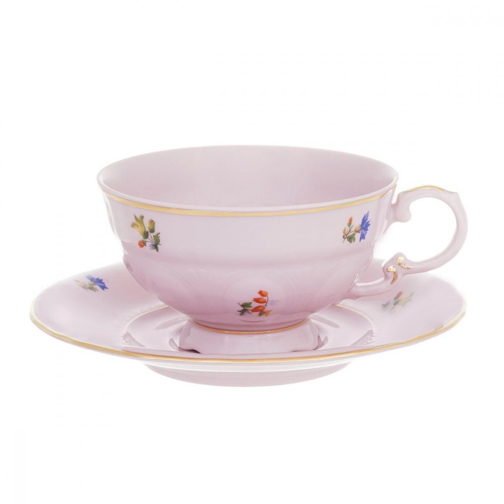 "Набор для чая 200мл на 6перс.12пред.""Соната 2435 розовая"""