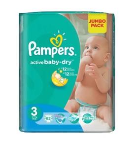 Подгузники Active Baby-Dry Midi (4-9 кг)  Упаковка 82 PAMPERS