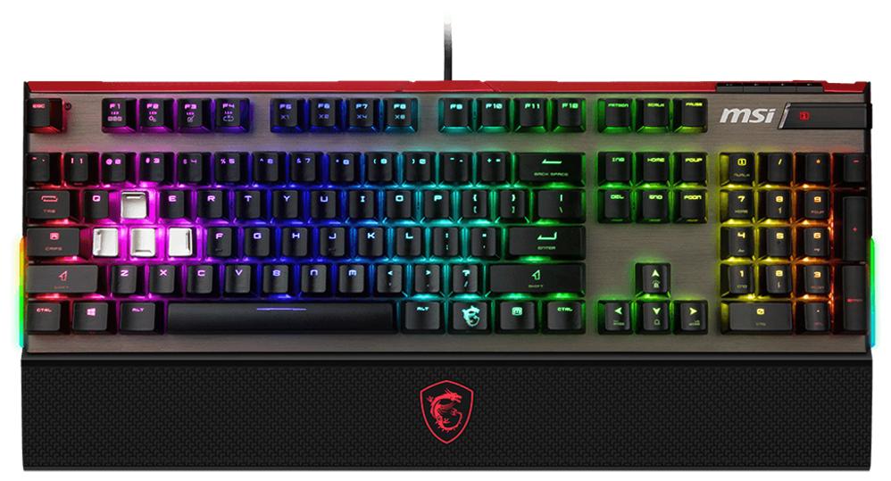 Клавиатура проводная MSI VIGOR GK80 CR черный