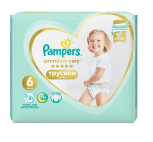Подгузники-трусики Premium Care Pants Extra Large (15+ кг) Упаковка 31 PAMPERS