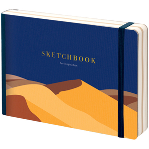 "Скетчбук - альбом для рисования 80л. B6 ""Desert"", 100г/м2, тв.обл, карман, доп.листы крафт"