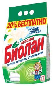 Стиральный порошок Белые цветы 2,4кг БИОЛАН