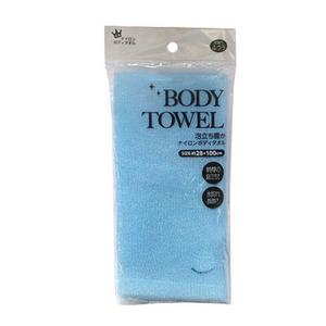 Мочалка для тела нейлоновая голубая Body Towel