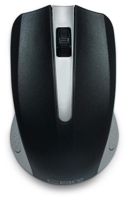 Манипулятор CBR Wireless Optical Mouse < CM-404 Silver > (RTL) USB 3but+Roll, беспроводная