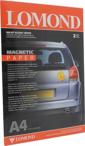 LOMOND 2020345 (A4, 2 листа) бумага белая глянцевая с магнитным слоем