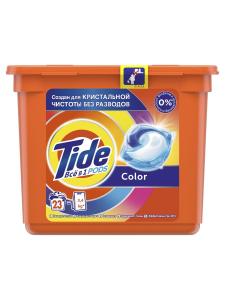 Гель для стирки в капсулах Color 23шт Tide