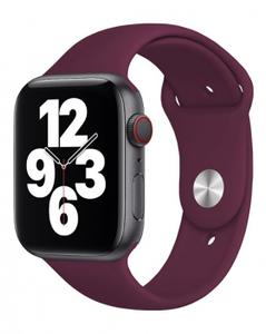 Ремешок силиконовый «vlp» Silicone Band для Apple Watch 38/40 мм, марсала