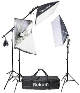 Комплект флуоресцентных осветителей с софтбоксами Rekam CL-435-FL3-SB Boom Kit