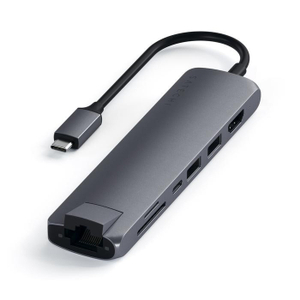USB хаб Satechi Type-C Slim Multiport with Ethernet Adapter