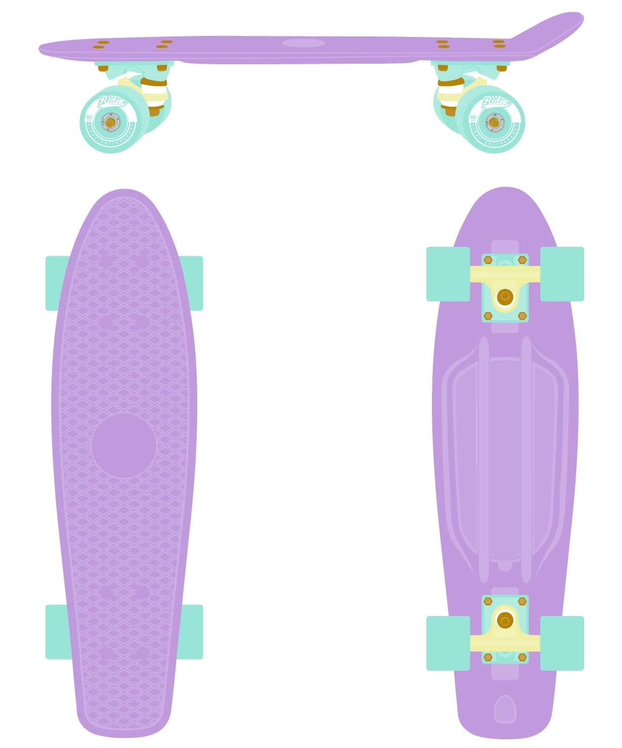 Круизер пластиковый Violet 27''x8''
