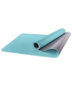 Коврик для йоги STARFIT FM-201 TPE 173x61x0,6 см, мятный/серый 1/12
