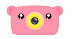 Lemon Tree / Детская цифровая камера в форме медведя Розовый