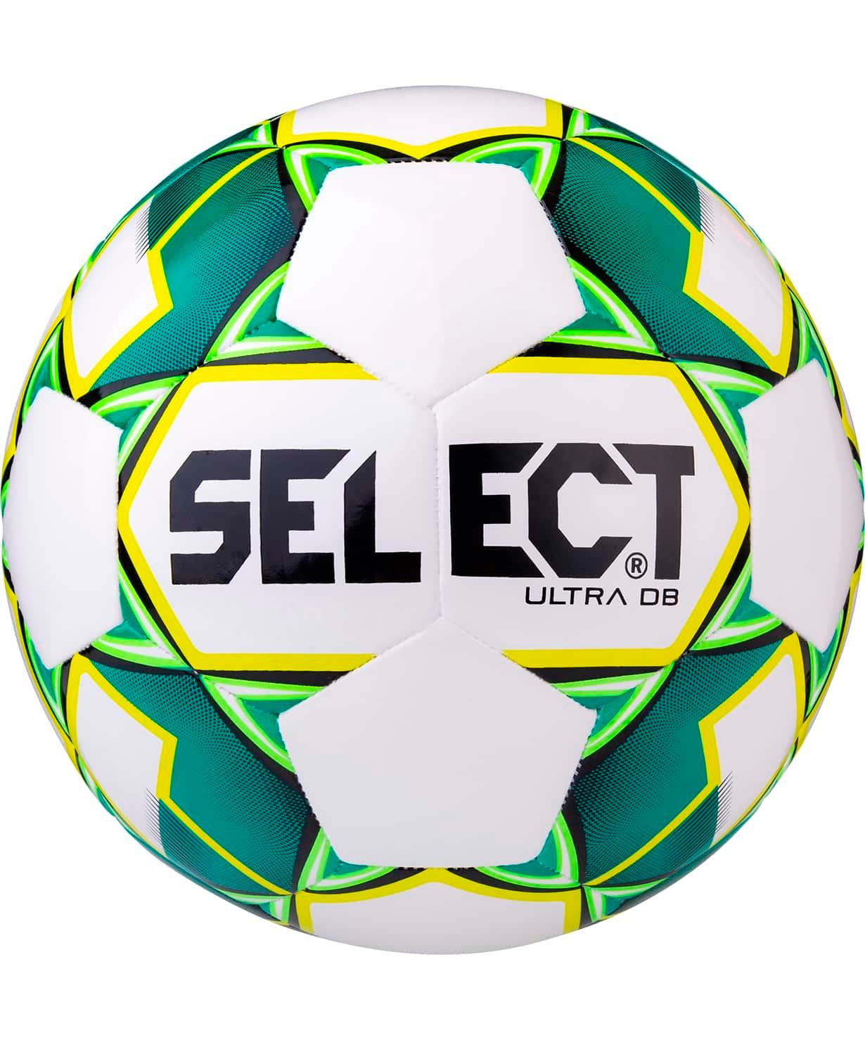 Мяч футбольный Ultra DB 810218, №5, белый/зеленый/желтый/черный