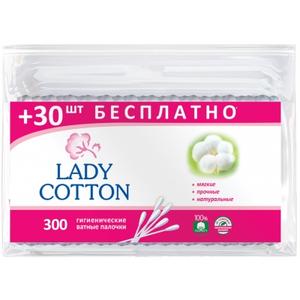 Ватные палочки в пакете зип-лок 300шт Lady Cotton